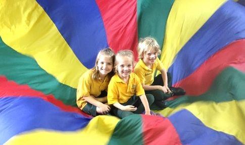 Bundoora Primary School - three children in parachute